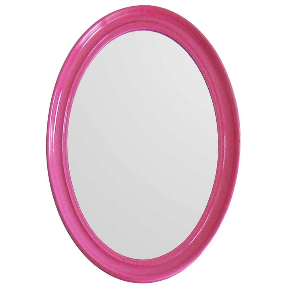 Espelho Contemporary Oval Pink em MDF - Urban - 70x50 cm