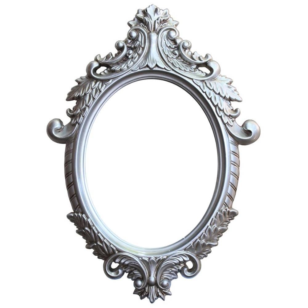 Espelho Dijon Prata com Moldura em Resina - 87x62 cm