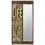 Espelho Dont Take Life Too Seriously Oldway - 160x80 cm