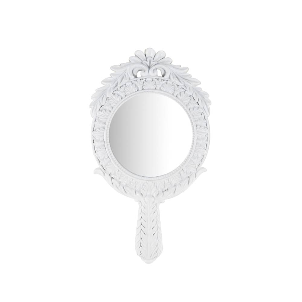 Espelho Elegance Branco em Resina - 34x19 cm