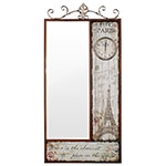 Espelho Facet Eiffel Paris com Relógio Oldway