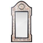 Espelho Facet com Relógio Faith Home Oldway