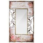 Espelho Flores Love Antik Arabescos Oldway - 150x90 cm