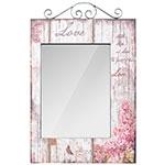 Espelho Flores Love Retangular Oldway - 74x48x1 cm
