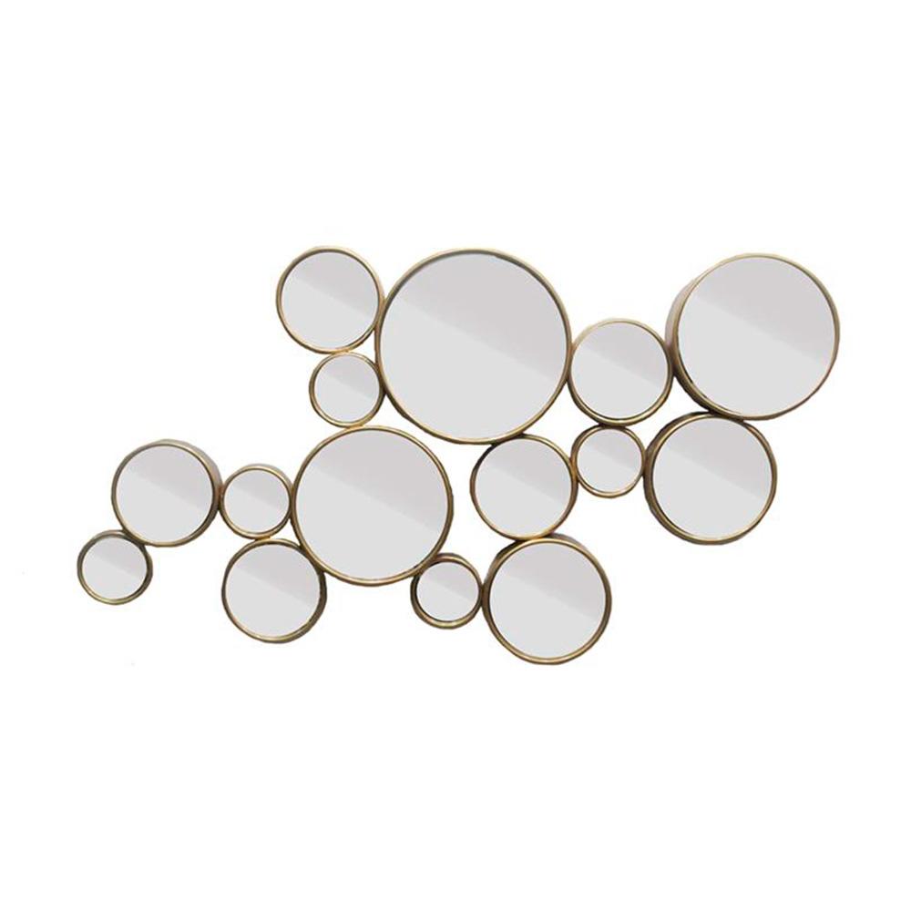 Espelho Gold Bolas Moldura em Metal - 103,5x60 cm