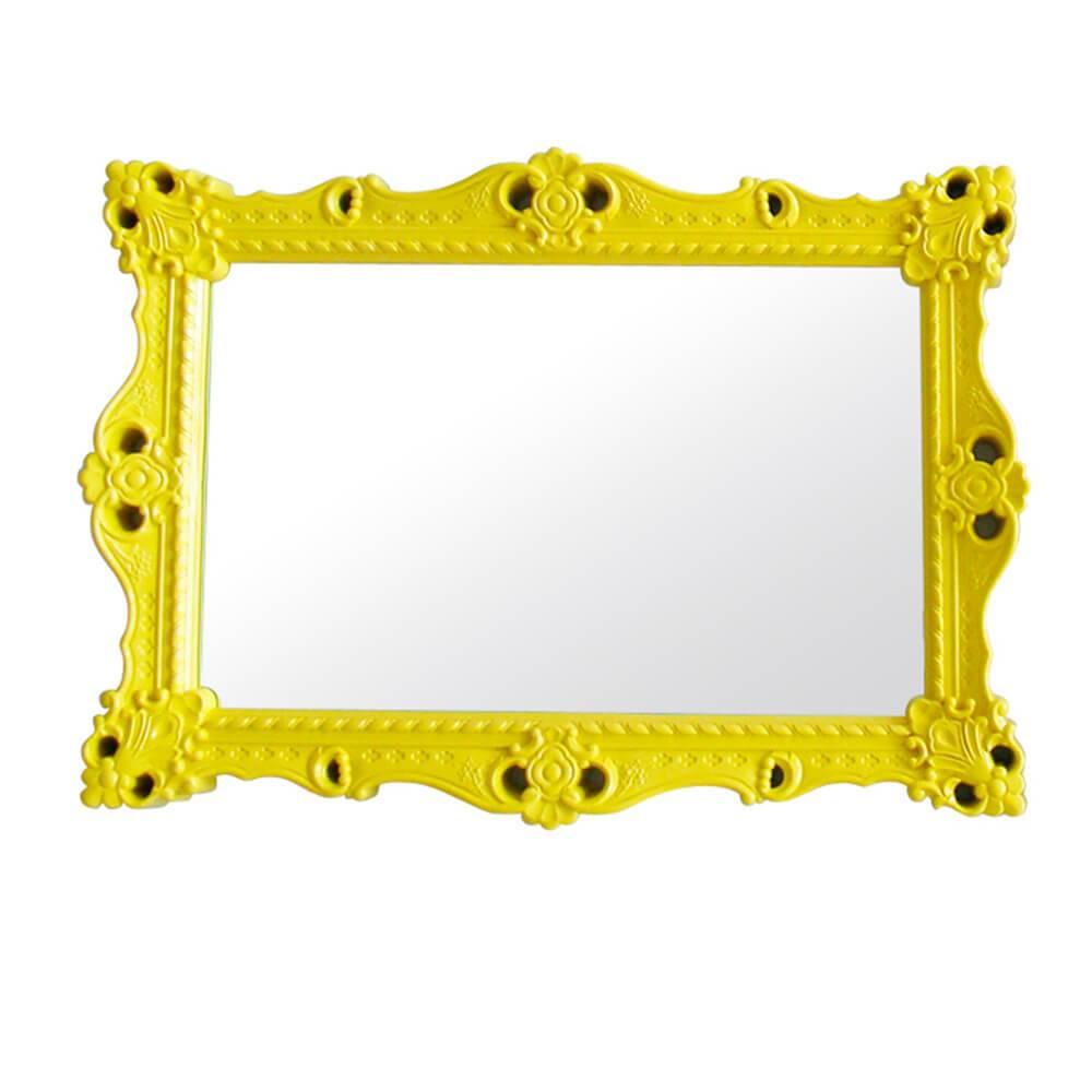 Espelho Grand Chalet Amarelo em MDF - Urban - 103x73 cm