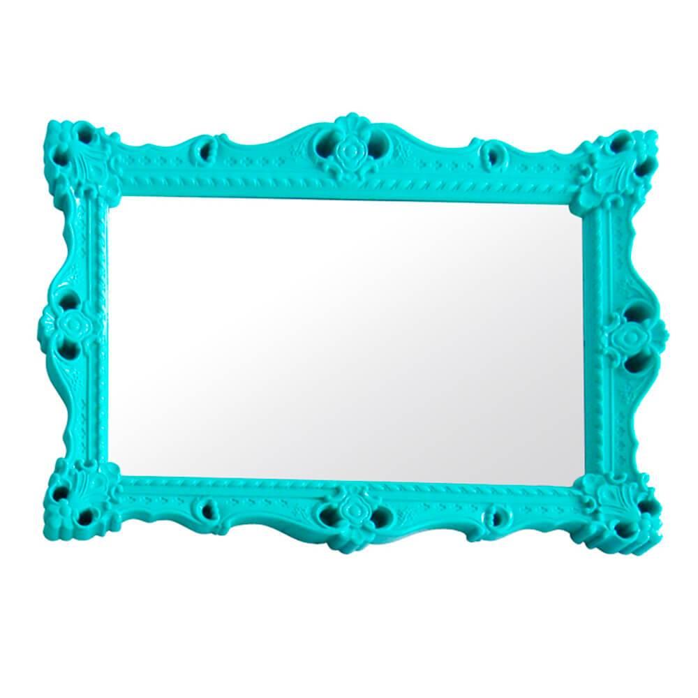 Espelho Grand Chalet Green em MDF - Urban - 103x73 cm