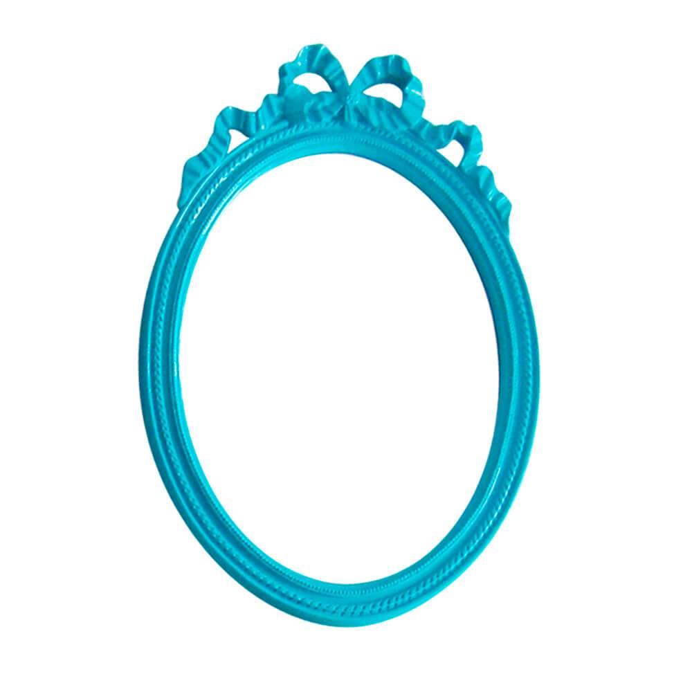 Espelho Laces of The Queen Grande Azul em Resina - Urban - 69x49 cm