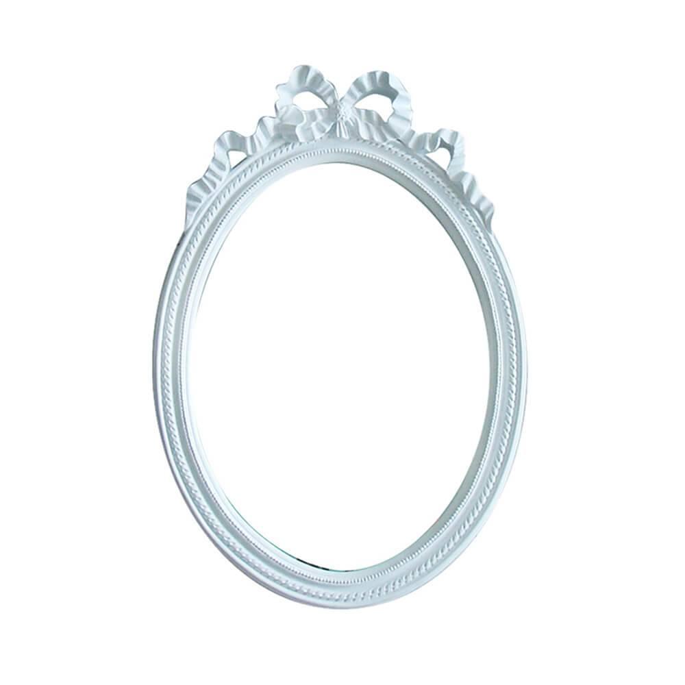 Espelho Laces of The Queen Grande Branco em Resina - Urban - 69x49 cm