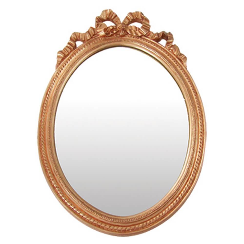 Espelho Laces of The Queen Grande Dourado em Resina - Urban - 69x49 cm