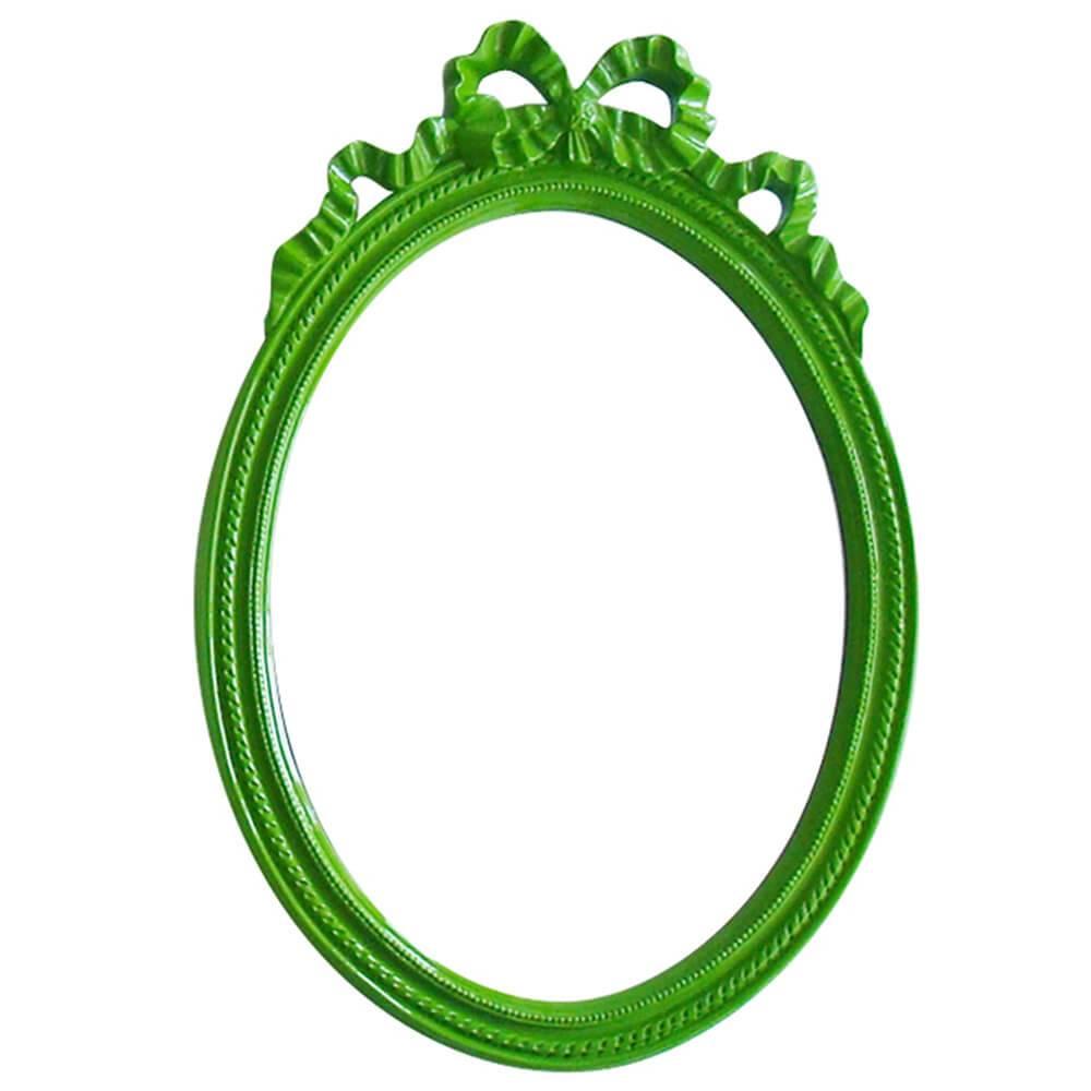 Espelho Laces of The Queen Grande Verde em Resina - Urban - 69x49 cm
