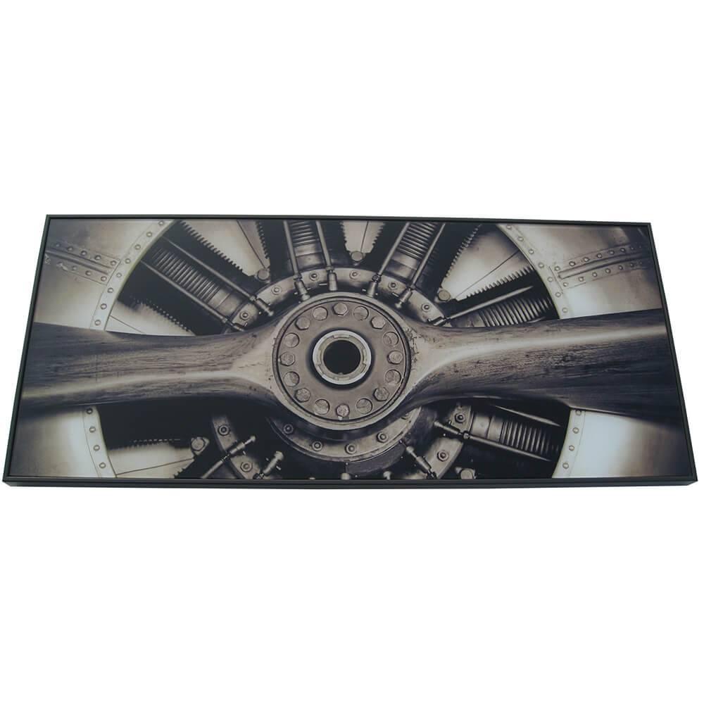 Espelho Loft Big Plane Preto em Vidro - Urban - 70x30 cm