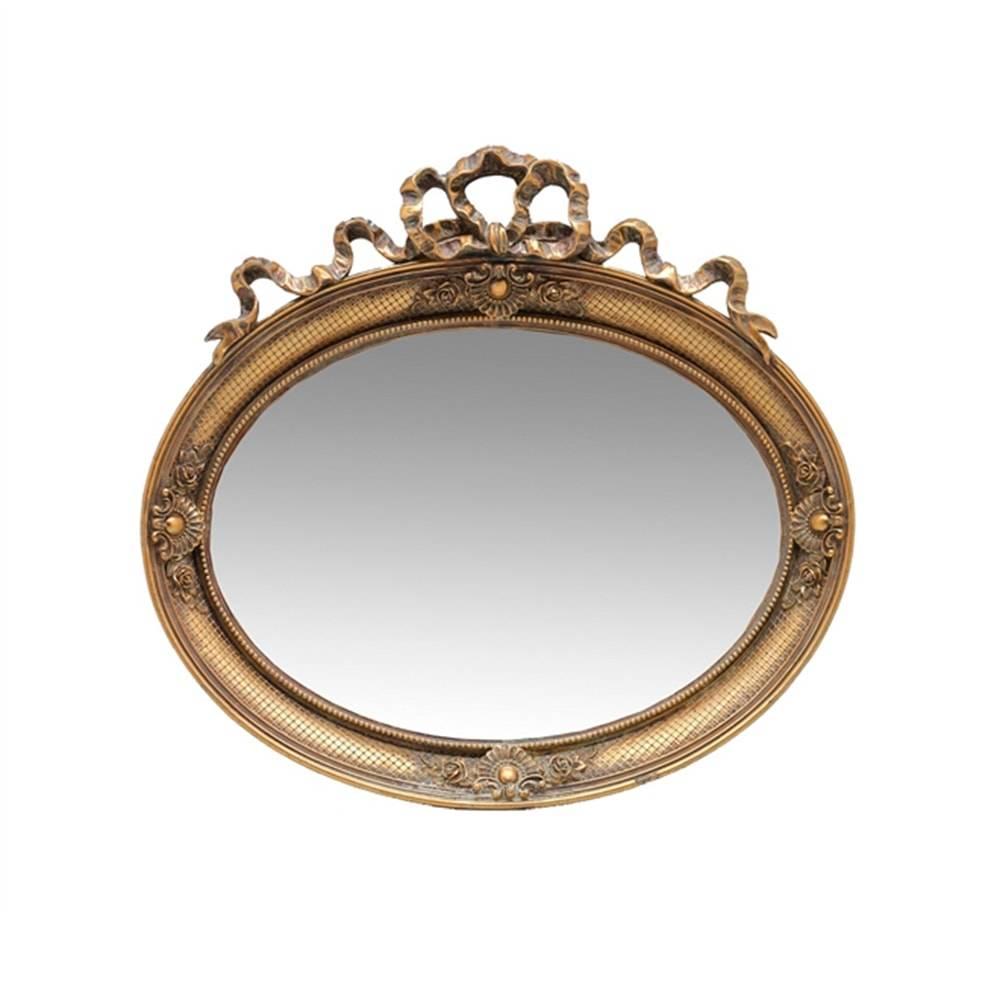 Espelho Luxo Laço Dourado em Resina - 29x28 cm