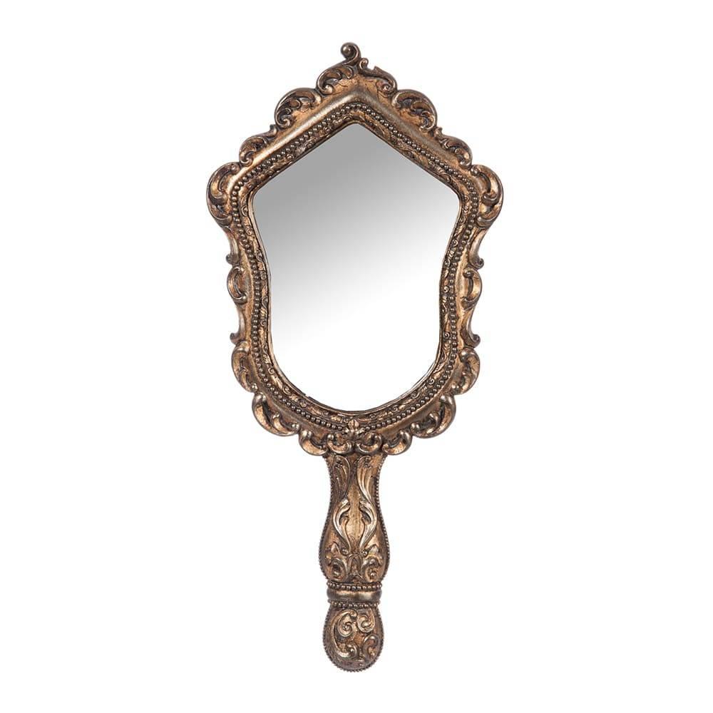 Espelho de Mão Antique Dourado - 44,5x19 cm