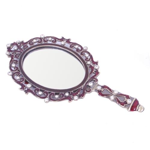 Espelho de Mão Romena em Metal - 21x10 cm
