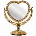 Espelho de Mesa Coração Dourado Grande - 2 Lados - Urban