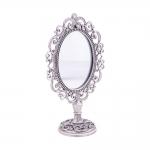 Espelho de Mesa Elizabeth com Pedrarias em Metal - 19x11x6 cm