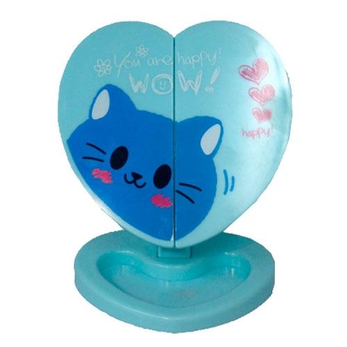 Espelho de Mesa Gatinho Azul - 17x12 cm