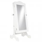 Espelho de Mesa Jewelry Cabinet Branco Grande em MDF