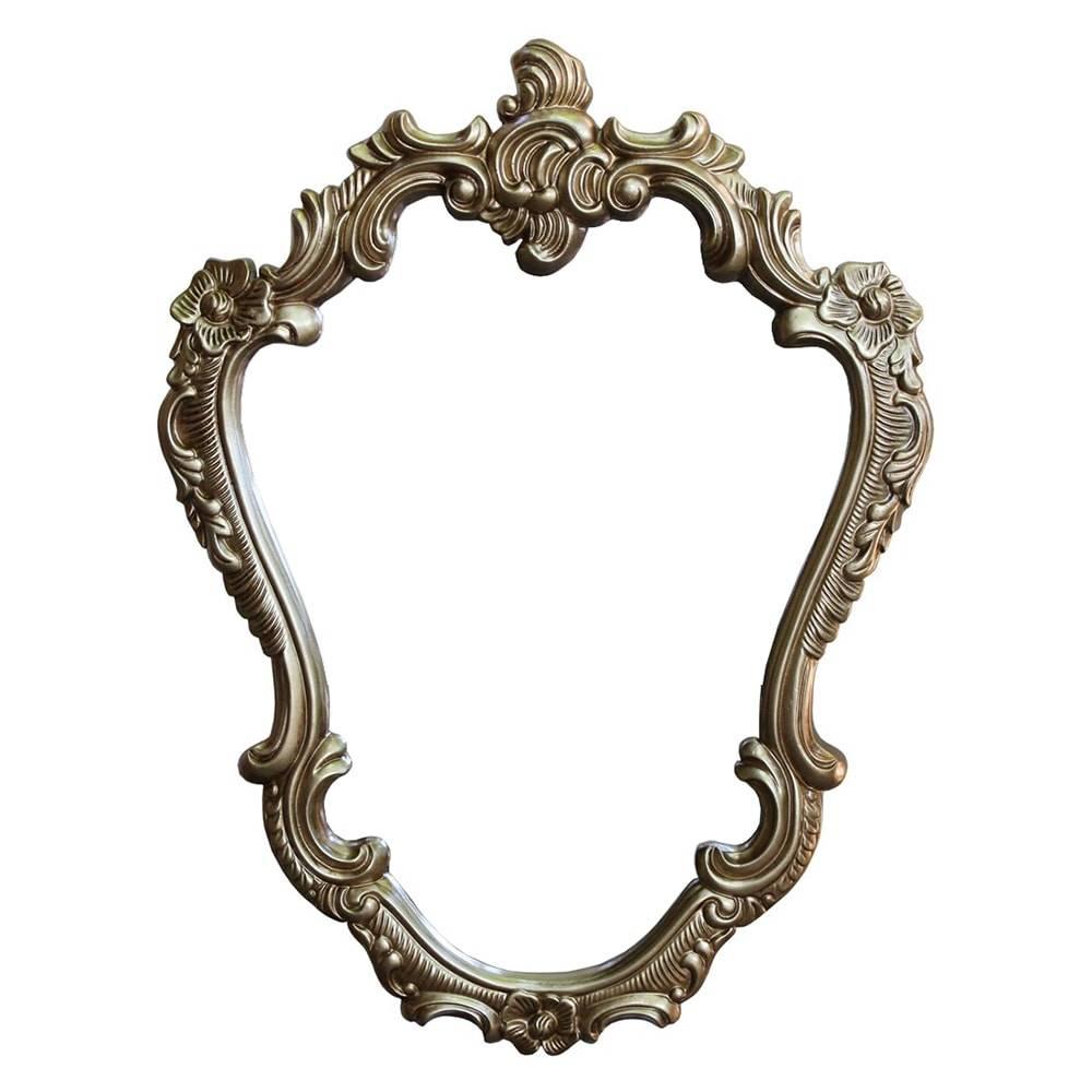 Espelho Orleans Dourado com Moldura em Resina - 87x65 cm
