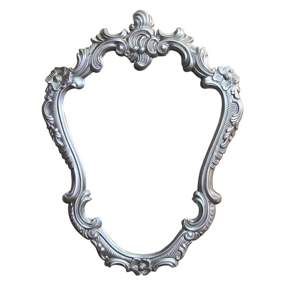 Espelho Orleans Prata com Moldura em Resina - 87x65 cm