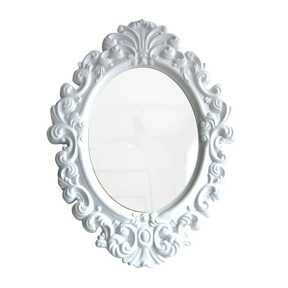 Espelho Oval Big Princess Branco - Urban - 68x50 cm