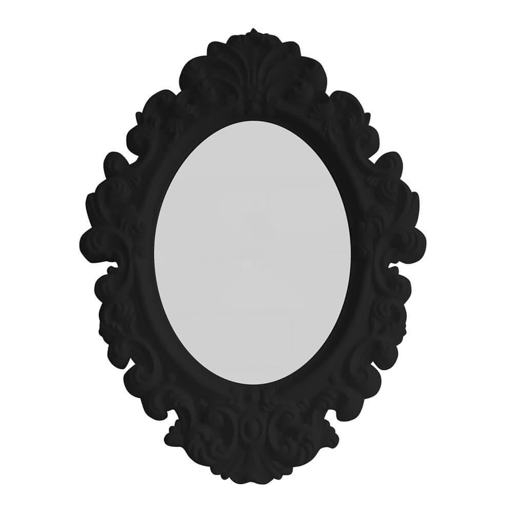 Espelho Oval Big Princess Preto - Urban - 68x50 cm