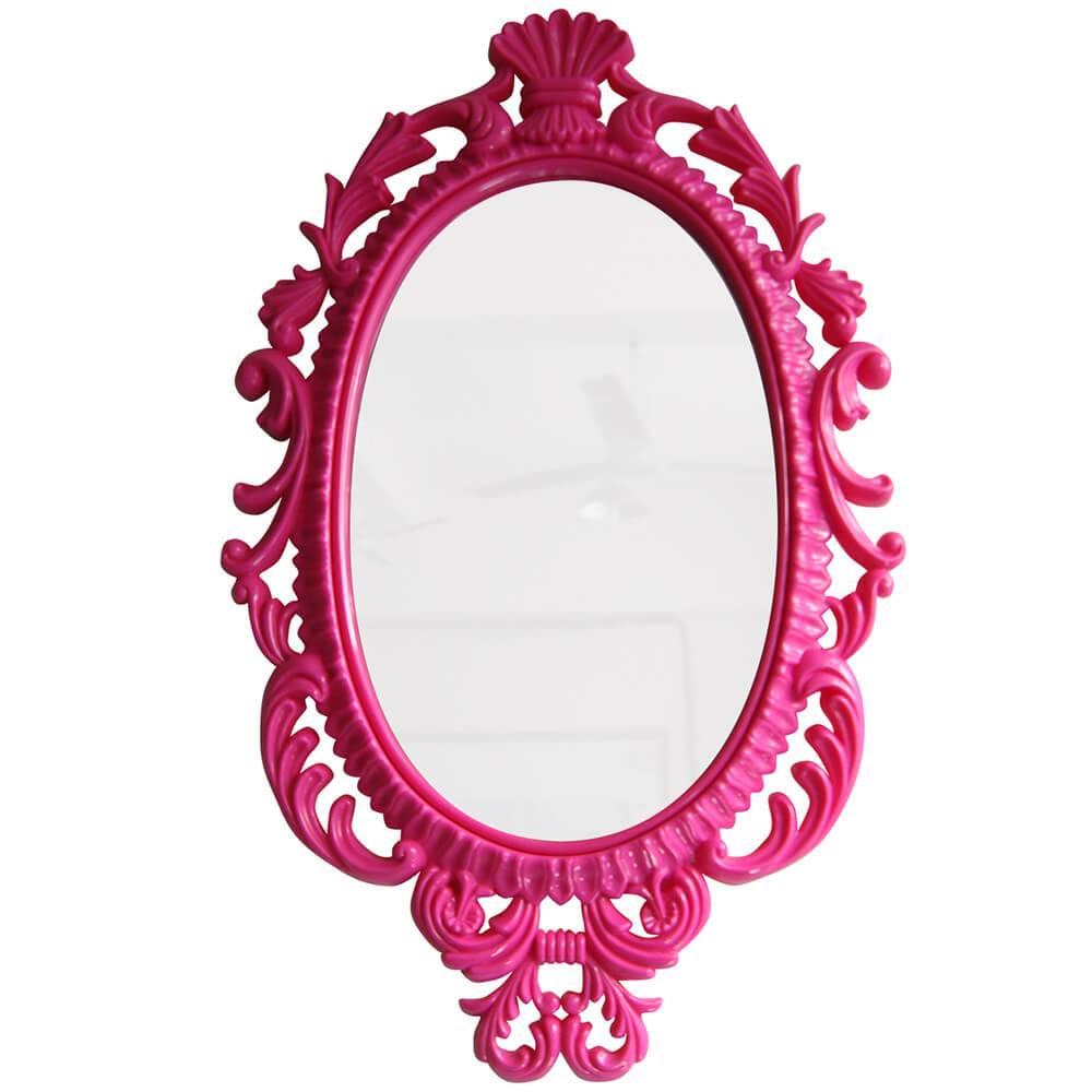 Espelho Oval Giant Princess Pink - Urban - 73x44 cm