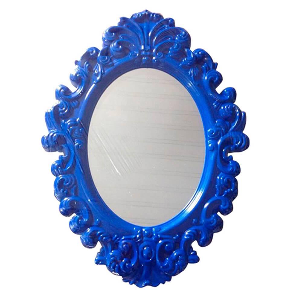 Espelho Oval Indigo Big Princess Azul Grande - Urban - 68x50 cm