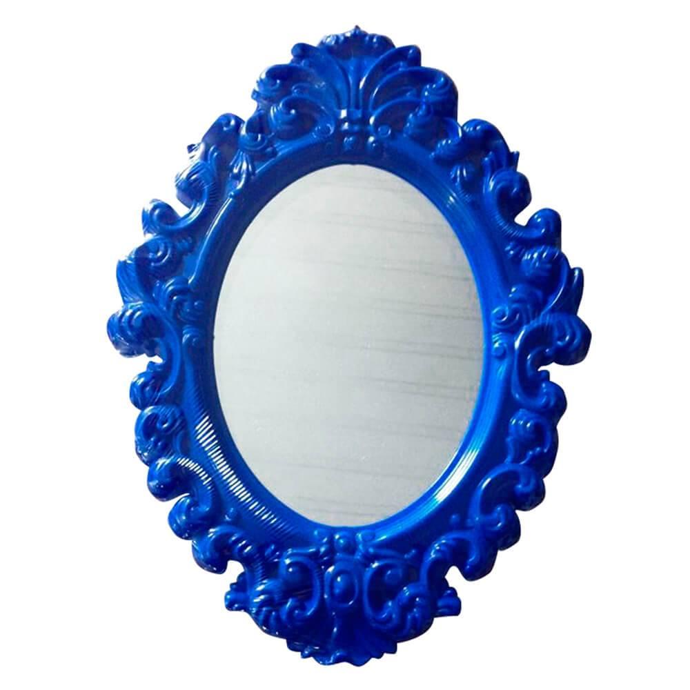 Espelho Oval Indigo Big Princess Azul Médio - Urban - 51x38 cm