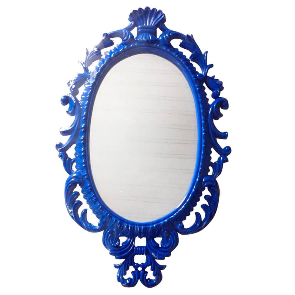 Espelho Oval Indigo Giant Princess Azul - Urban - 73x44 cm