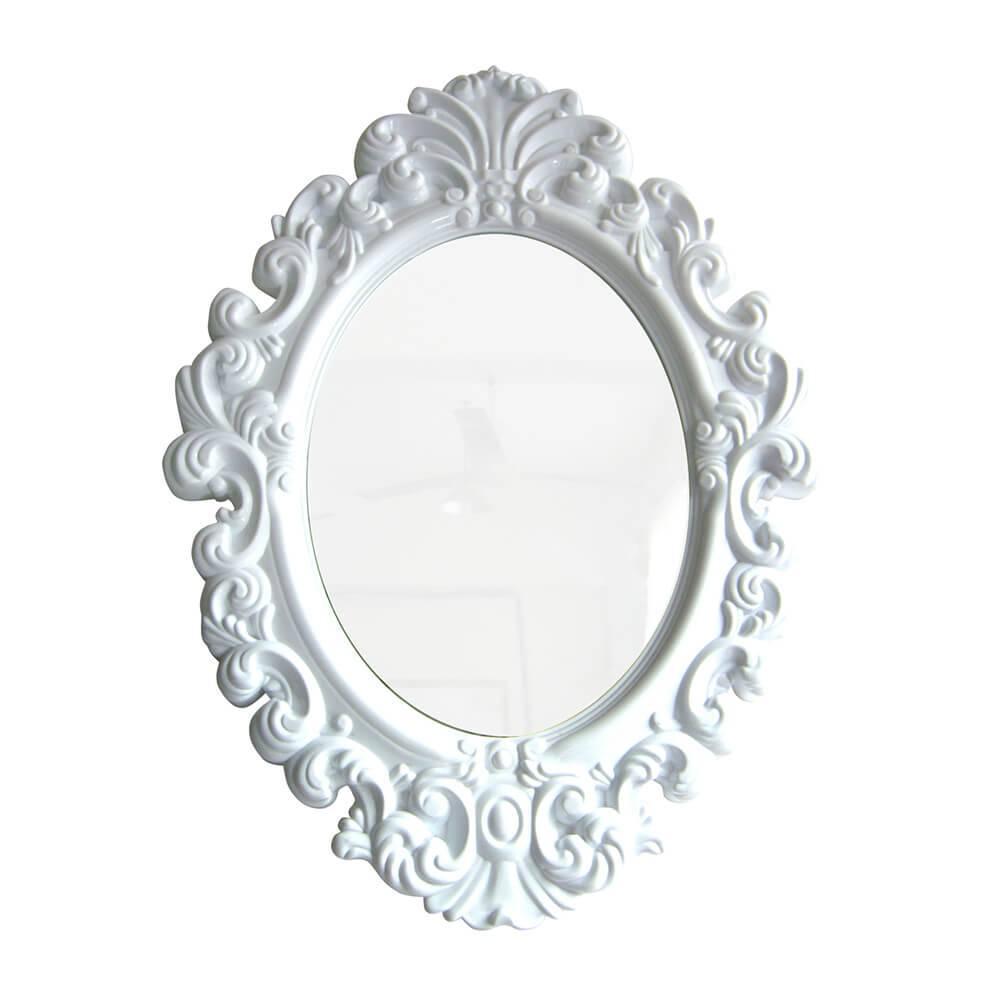 Espelho Oval Medium Branco - Urban - 51x38 cm