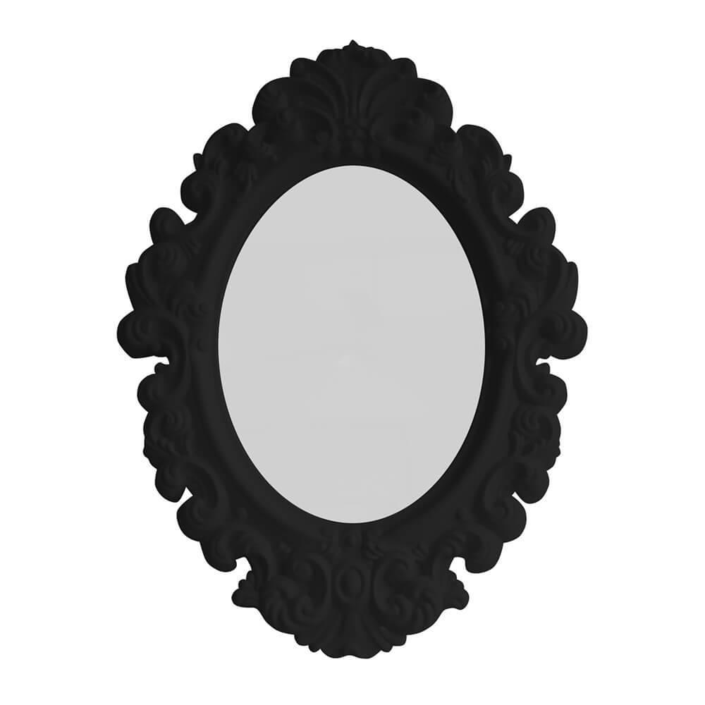 Espelho Oval Medium Preto - Urban - 51x38 cm