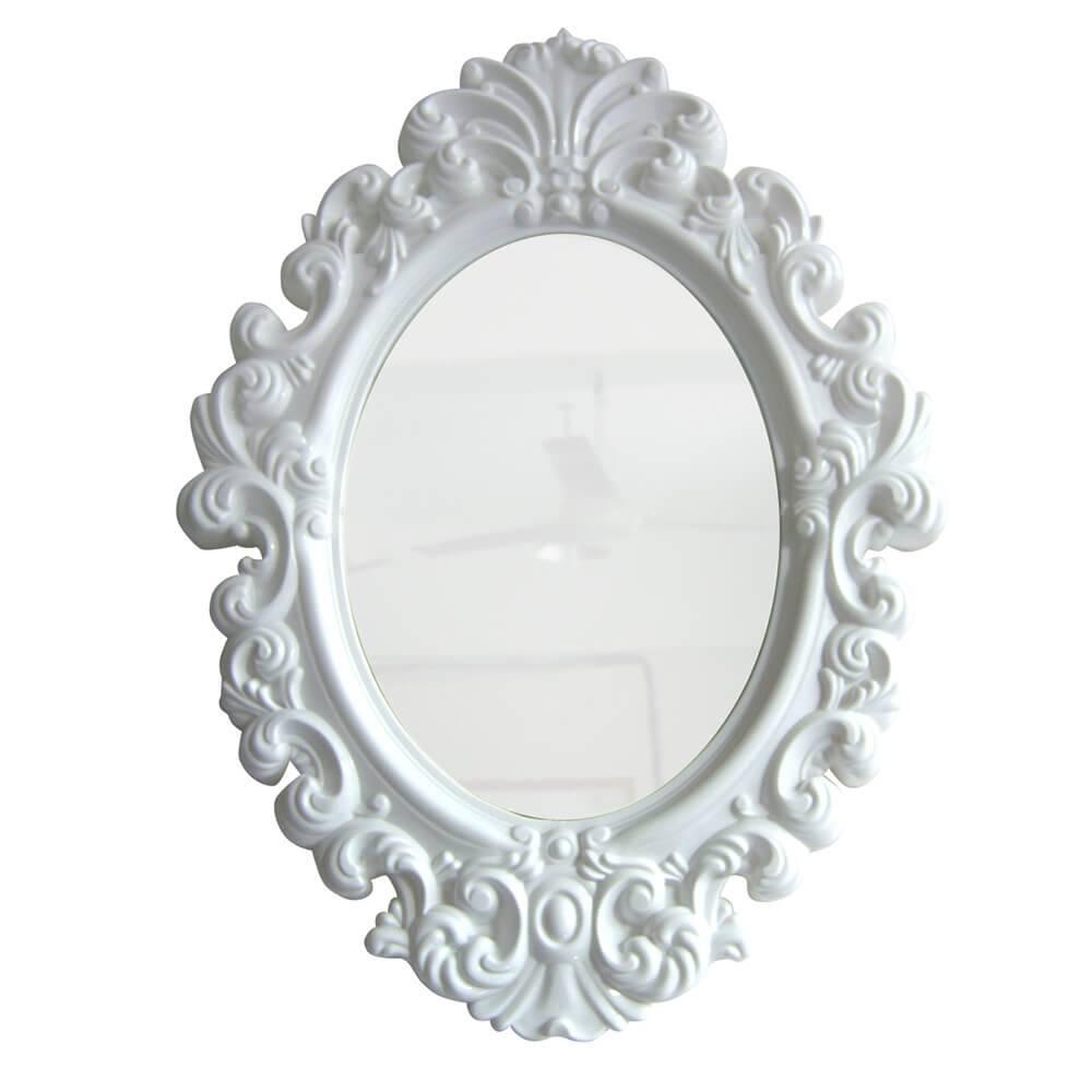 Espelho Oval Small Princess Branco - Urban - 41,4x30 cm