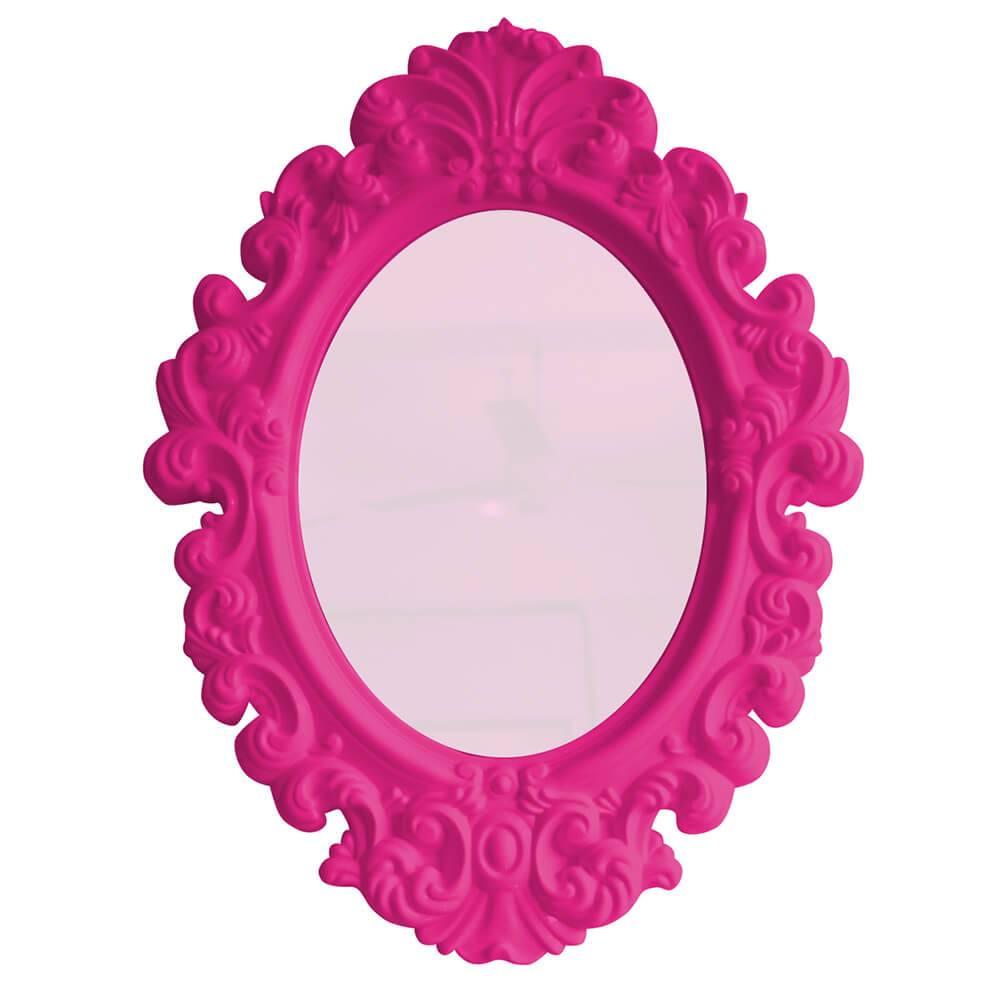 Espelho Oval Small Princess Pink - Urban - 41,4x30 cm