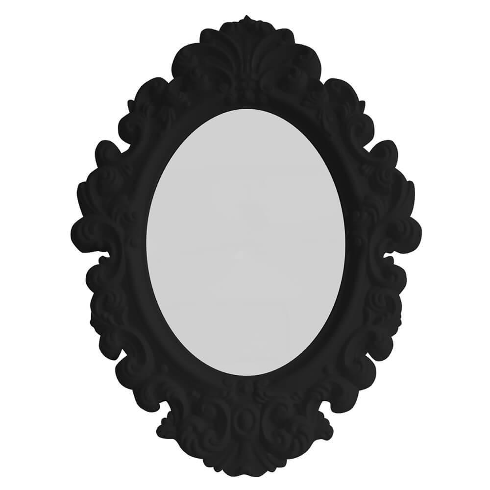 Espelho Oval Small Princess Preto - Urban - 41,4x30 cm