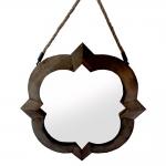 Espelho de Parede Moldura Detalhada em Madeira - 63x48 cm