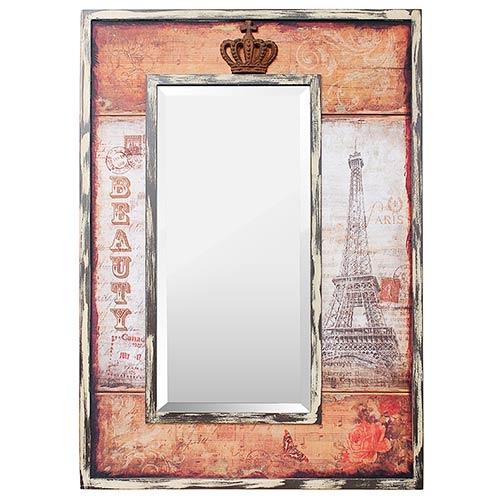 Espelho Paris Eiffel Beauty / Crown Oldway - 93x65 cm