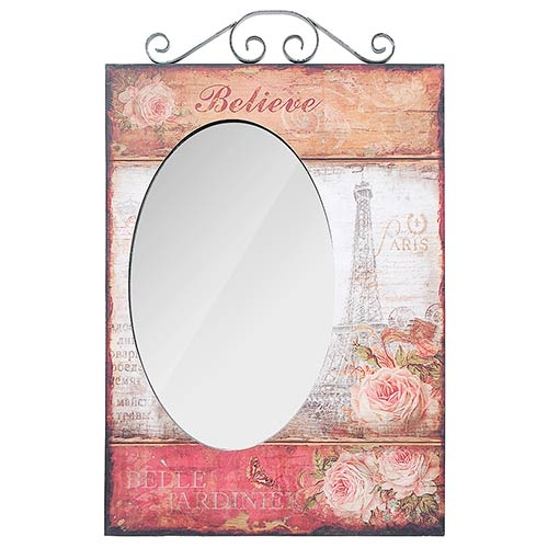 Espelho Paris Eiffel Believe Oldway - 75x48x4 cm