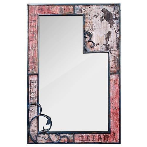 Espelho Pássaros Moldura/ Arabescos Oldway - 121x80 cm