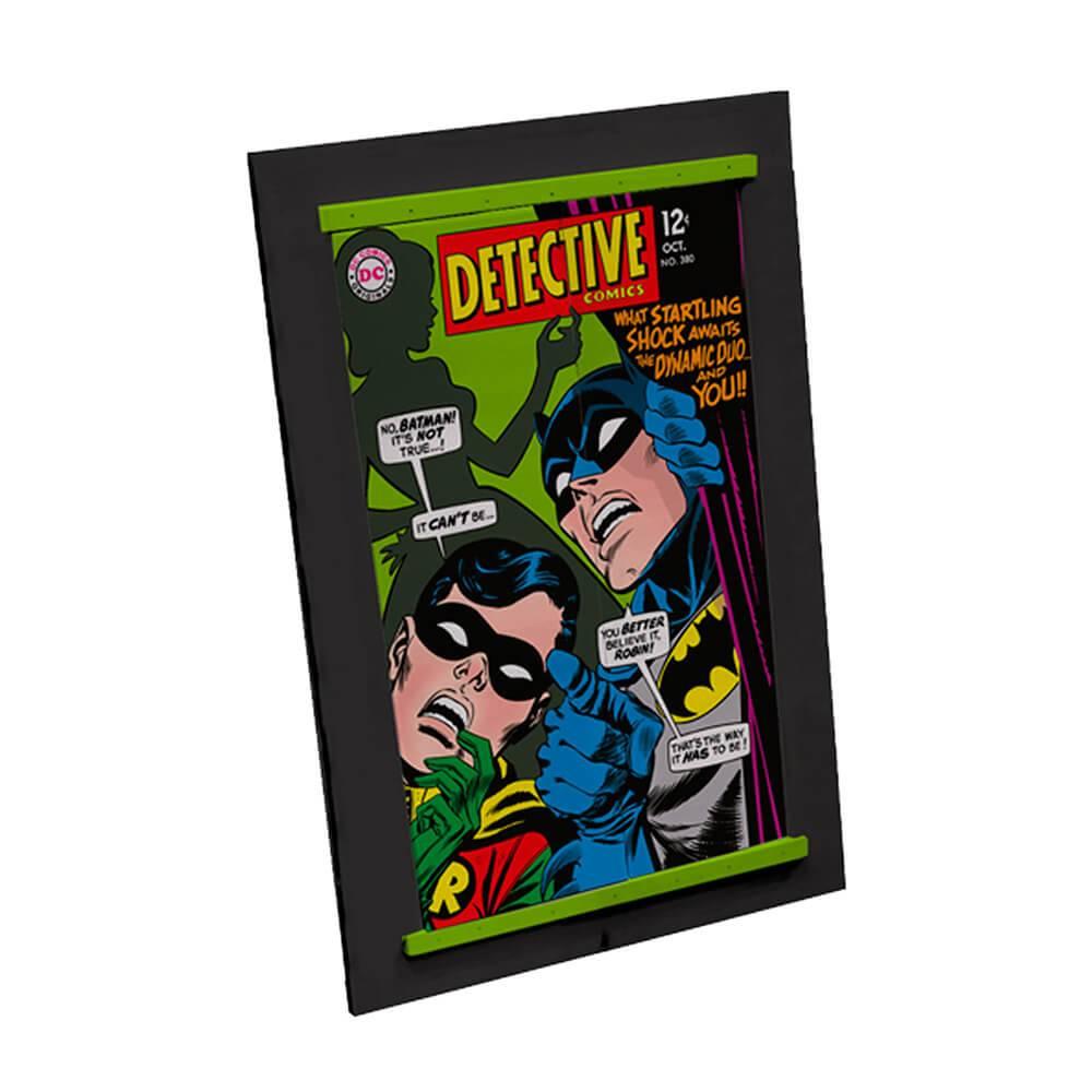 Espelho com Porta DC Comics Batman And Robin Cover Verde em Madeira - Urban - 52x37 cm