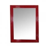 Espelho Provençal Vermelho em Madeira - 40x30 cm