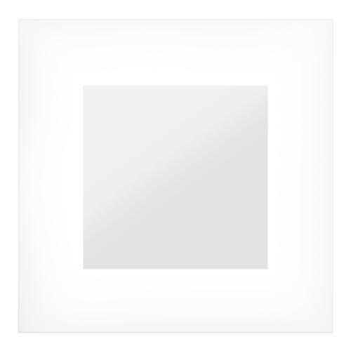 Espelho Quadrado Branco Square - 50x50 cm