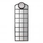 Espelho Quadrados com Relógio Oldway - 192x63 cm