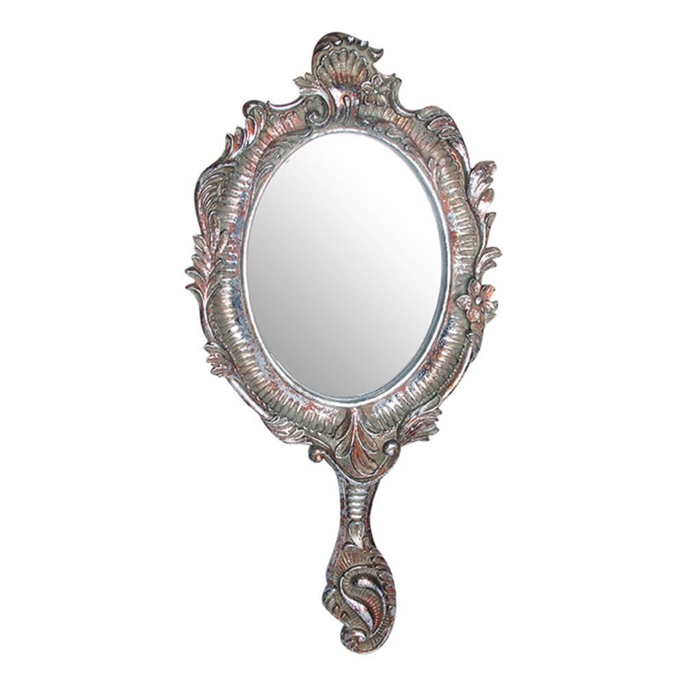 Espelho Rainha c/ Borda Detalhada Dourada - 48x23 cm
