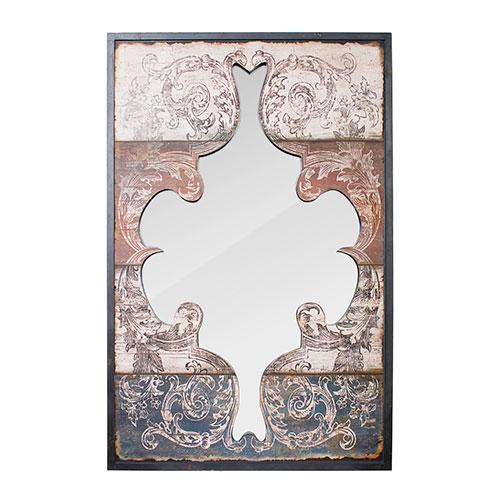 Espelho Recortado Arabesco Pintados Oldway - 116x75 cm