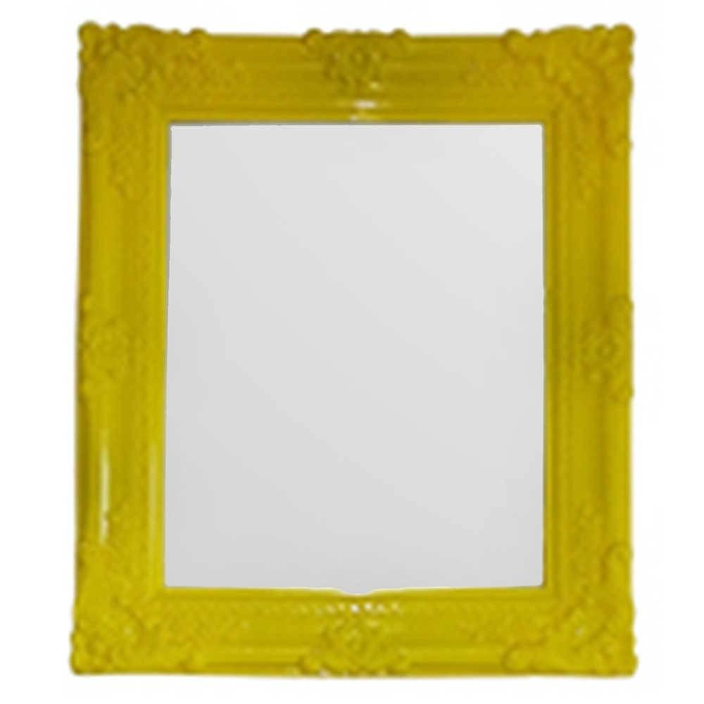 Espelho Retangular My Castle Amarelo em Vidro - Urban - 38x32 cm