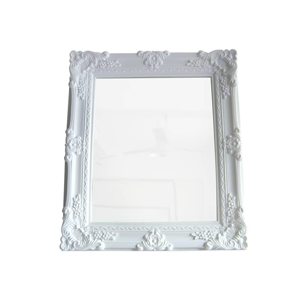 Espelho Retangular My Castle Branco em Vidro Urban - 38x32 cm