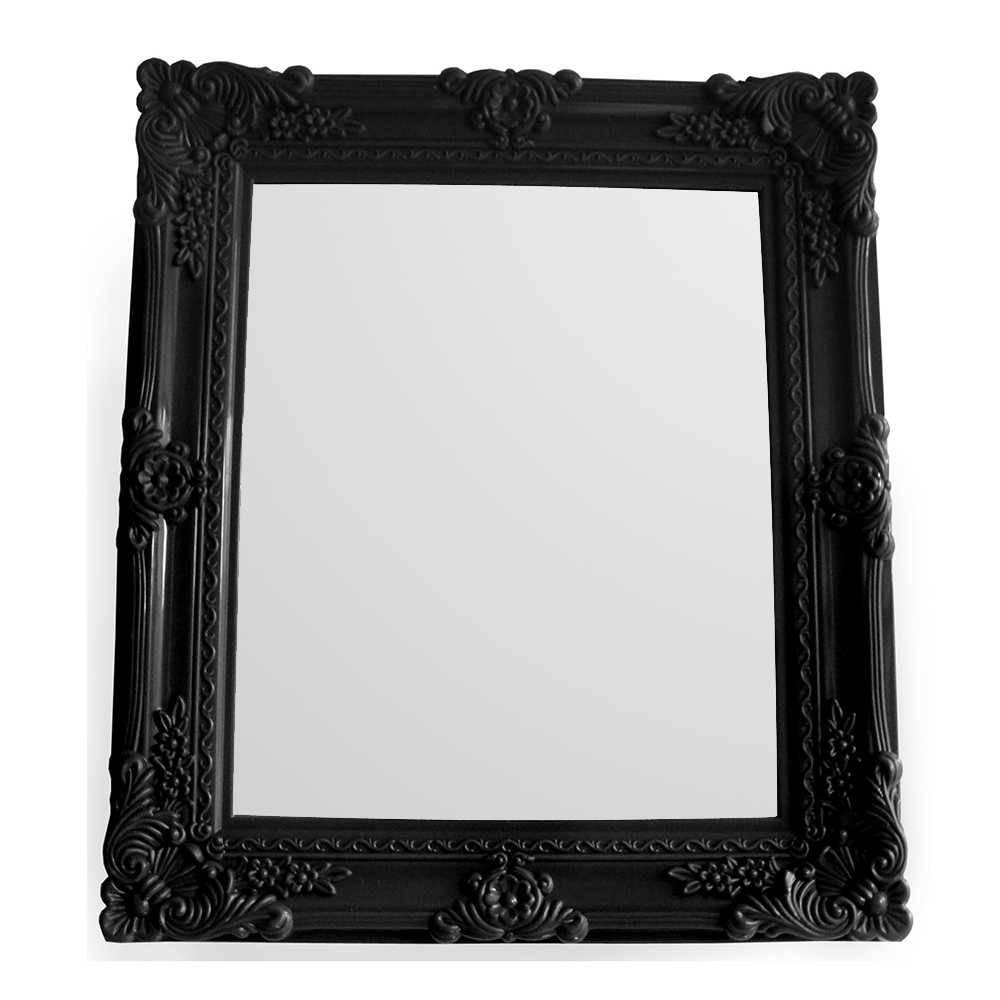 Espelho Retangular My Castle Preto em Vidro - Urban - 38x32 cm