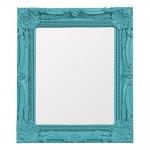 Espelho Retrô Azul com Moldura Detalhada - 33,5x28,5 cm